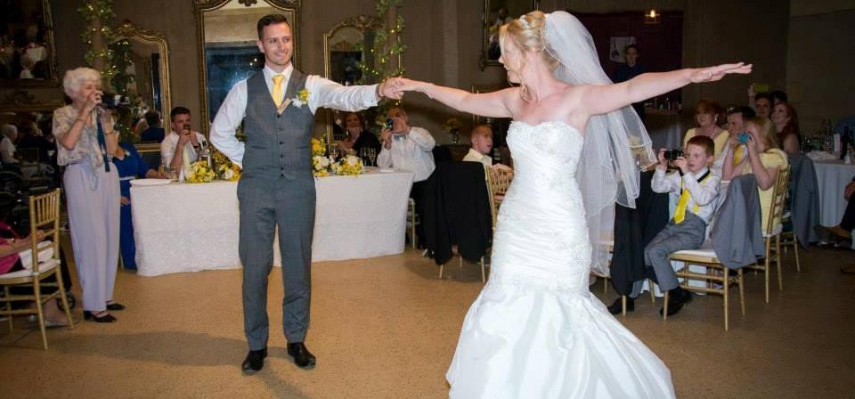 Dance twirl in wedding rumba