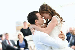 Performing a waltz at a wedding