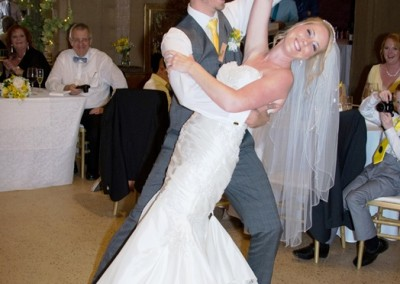 Victoria & Peter bridal pose