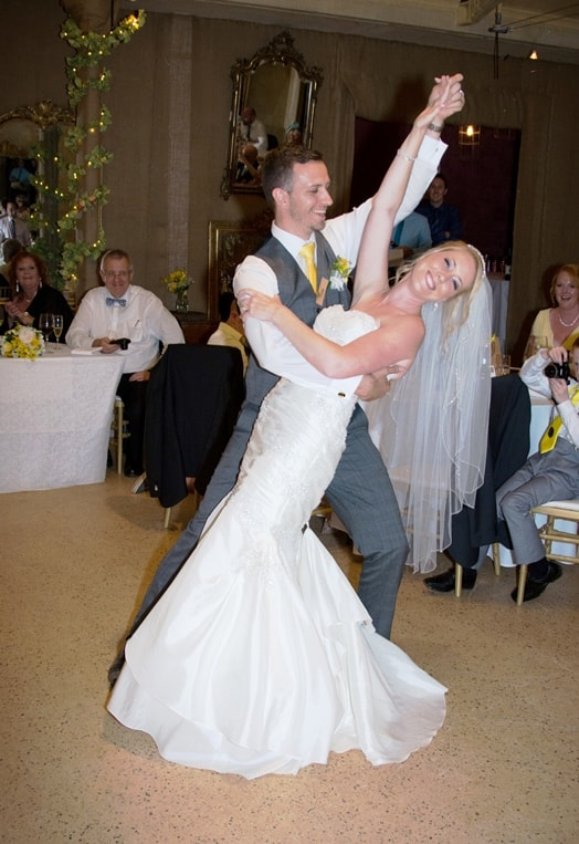 Dance pose to impress wedding guests