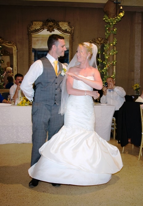 Wedding dance wrap move