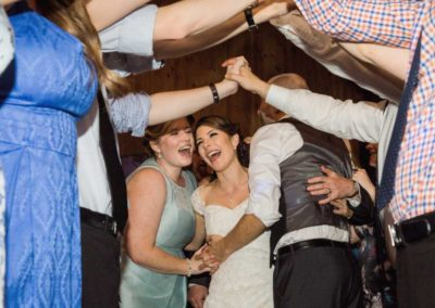 Adelaide Wedding-Couple-Emily-Evan-Dancing happily -with-guest 2