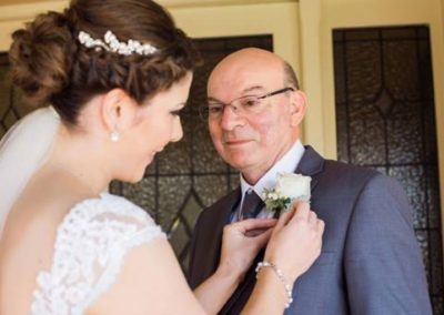 Adelaide Wedding Dance Bride Emily has a beautiful captured moment with her Father 2