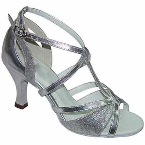 Ladies silver glitter wedding dance shoes at Adelaide Wedding Dance
