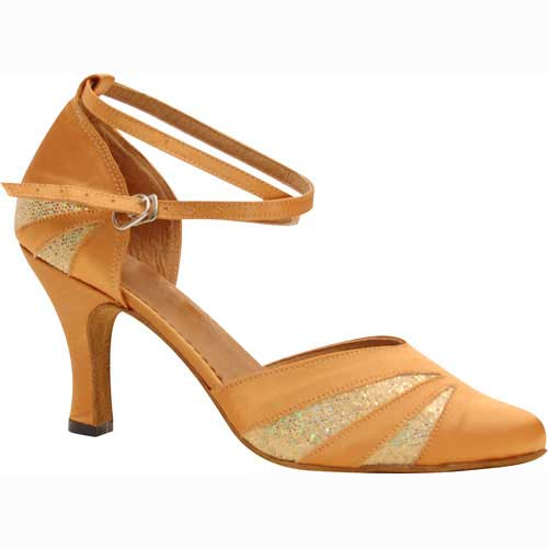 Ladies tan glittler wedding dance shoes at Adelaide Wedding Dance