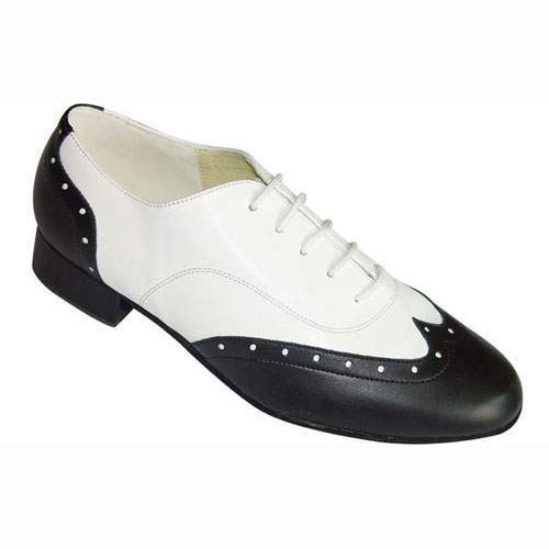 mens black and white wedding dance shoes