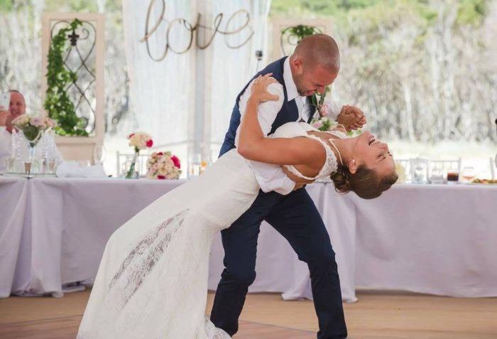 Joel & Angie's Wedding Dance Dip